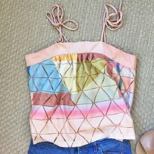 Akemi + Kin abstract geo top for Anthropologie